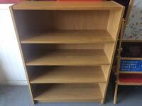 Oak vaneer bookcase from IKEA