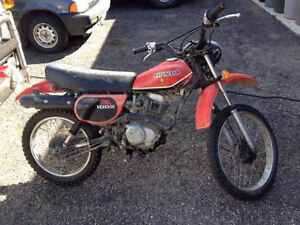 Vintage Honda xl100 dual purpose dirt bike located In Hinton