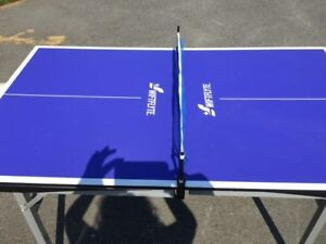 Mini ping pong table and mini fooseball table
