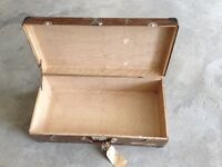 Vintage Metal Suitcase for Shabby Chic Decor - REDUCED!