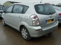 TOYOTA COROLLA VERSO 2008 BREAKING FOR SPARES TEL 07814971951 HAVE FEW IN STOCK