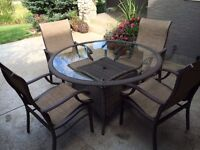 Quality Patio Table and Four Chairs