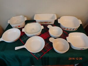 Corning Ware Dishes & Cookware:  All 9 Pieces For $38.00!