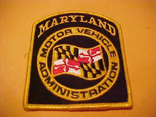 MARYLAND MOTOR VEHICLE ADMINISTRATION  POLICE PATCH SHOULDER SIZE USED