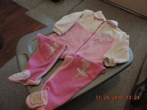 Girl's 18-24month Fleece Sleepers