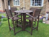 Garden Table & 4 Chairs plus free parasol and stand