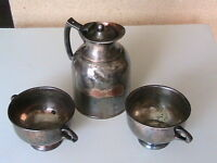 Antique cooking utensils,  tableware,  casserole,  butter holder
