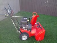 Aries 624E The two-stage, 6 horsepower Snow Blower