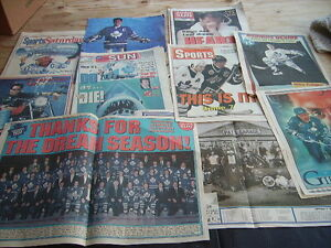 1993 TORONTO MAPLE LEAFS NEWSPAPER SCRAPBOOK COLLECTION VARIOUS Cambridge Kitchener Area image 2