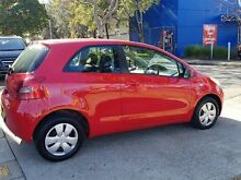 2006 Toyota Yaris NCP90R YR Red 4 Speed Automatic Hatchback Five Dock Canada Bay Area Preview