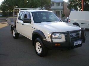 2008 Ford Ranger PJ 07 Upgrade XL (4x4) White 5 Speed Automatic Dual Cab Pick-up Victoria Park Victoria Park Area Preview