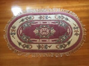 HAND KNOTTED ORIENTAL RUG - OVAL