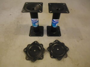 """13"""" boat seat pedestals with swivels"""