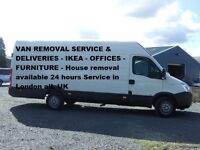 24 Hours Man And Van Removal Service £20 per hour loading & unloading in London & UK