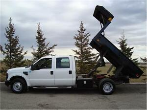 2008 FORD F350 XL CREW 2WD 9FT DUMP 6.8L V10 94K ONLY $19,950.