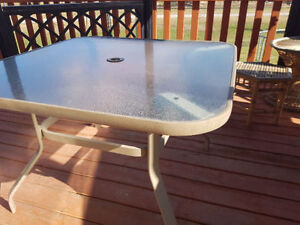 Glass Table outdoor $30 OBO
