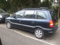 2002 VAUXHALL ZAFIRA 7 SEATER MOT MAY 2018 SPARES/REPAIR £250 POSS/ PX