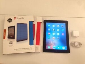Excellent 16GB Black Apple iPad 2 Wi-Fi & 3G GPS + Back Cover