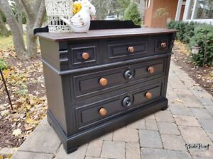 Painted and Refinished Victorian Eastlake Dresser/Vanity