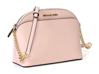 Michael Kors Jet Set Travel Emmy Medium Dome Chain Crossbody Bag Blossom Pink