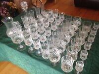Collection of Crystal D'arques glassware