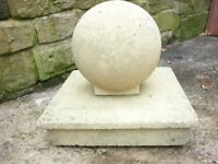 Stone Finnial Plinth and Ball Cap