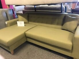 LEFT CORNER CHAISE NEW RRP £459 ONLY £179 IN OLIVE COLOUR