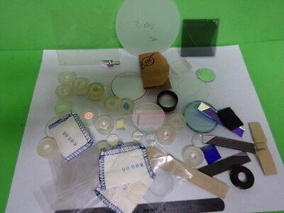 Lot Optical Lenses Prism Mirror Mil Spec Laser Optics As Is As-60
