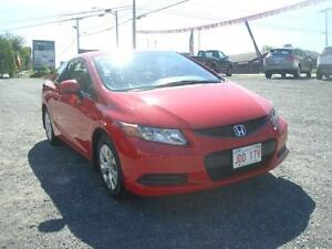 "2012 Honda Civic Coupe LX  $49.00 weekly ""on the road"" oac"