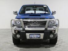 2013 Toyota Hilux KUN26R MY12 SR5 (4x4) Blue 4 Speed Automatic Dual Cab Pick-up Jandakot Cockburn Area Preview