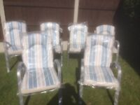 Garden Chairs (brand new) with removable cushions