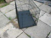 Fold Up Metal Dog Cage With Tray