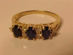 #1224-14K Y/Gold NATURAL SAPPHIRE & DIAMOND RING-SIZE 7-APPRAISED $2,150.00 Sell $525.00 FREE SHIPPING Canada - Interac