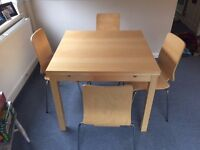 Extendable Table and Chairs (4)