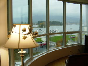 2BR/2BA Coal Harbor condo, view of North Shore mountain, July 1