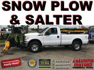 2013 FORD F-350 SNOW PLOW AND SALTER TRUCK 4X4
