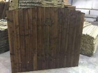🌟 Superb Quality Heavy Duty Bow Top Fence Panels Pressure Treated Brown