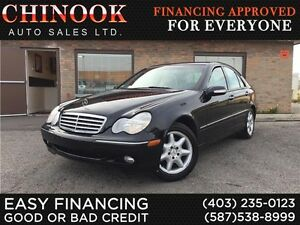 2004 Mercedes-Benz C-Class C320 4MATIC V6 Low KM,Leather,Sunroof