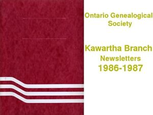 Ontario Genealogical Society Branch Newsletters 1978-1988