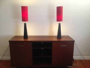 Red table lamps Leichhardt Leichhardt Area Preview