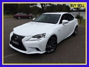 2014 Lexus IS250 GSE30R F Sport White 6 Speed Sports Automatic Sedan Lansvale Liverpool Area Preview
