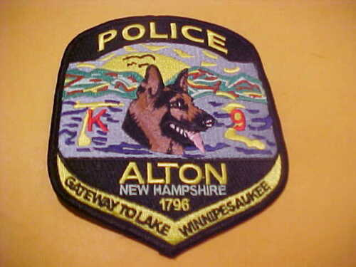 ALTON NEW HAMPSHIRE K-9 POLICE PATCH SHOULDER SIZE UNUSED