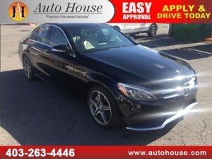 2015 Mercedes-Benz C300 4MATIC LEATHER ROOF NAVI B CAM LOW KM