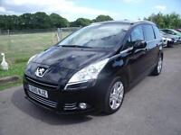 PEUGEOT 5008 HDI EXCLUSIVE - FSH - 7 SEATS, Black, Manual, Diesel, 2010