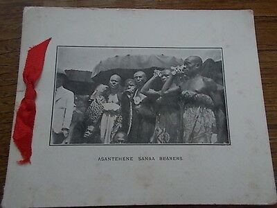 Antique African Tribal Xmas Card Ghana ASSATEHENE PALACE SANAA BEARERS Ethnic