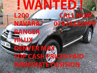 Mitsubishi L200 WANTED! TOP PRICES PAID IMMEDIATE ANSWER