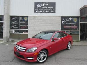 2012 MERECEDES BENZ C250 COUPE**NAVIGATION** ONLY 65,000KM**
