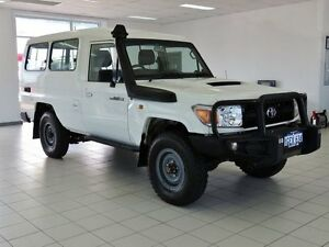 2010 Toyota Landcruiser VDJ78R 09 Upgrade Workmate (4x4) 11 Seat White 5 Speed Manual TroopCarrier Morley Bayswater Area Preview