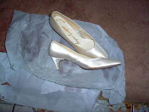 White Satin Ladies Shoes