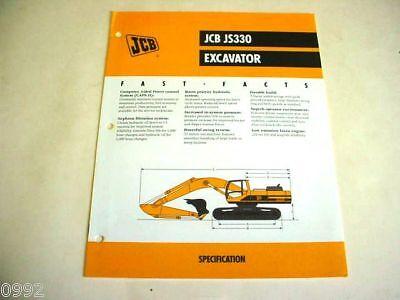 Jcb Js330 Excavator Brochure